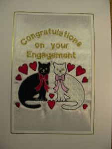 PERSONALISED ENGAGEMENT 2 CATS CARD